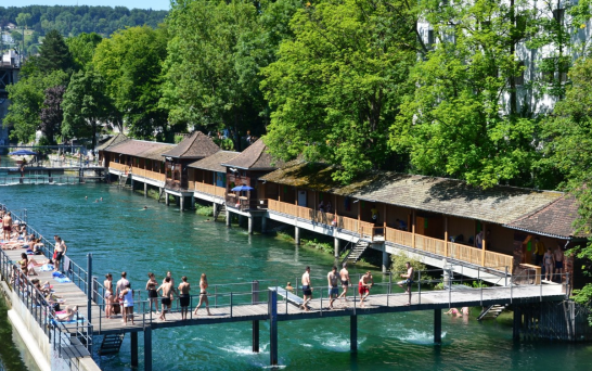 Free swimming in Zurich